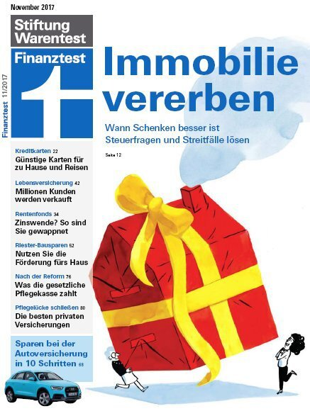 Cover Finanz­test November 2017