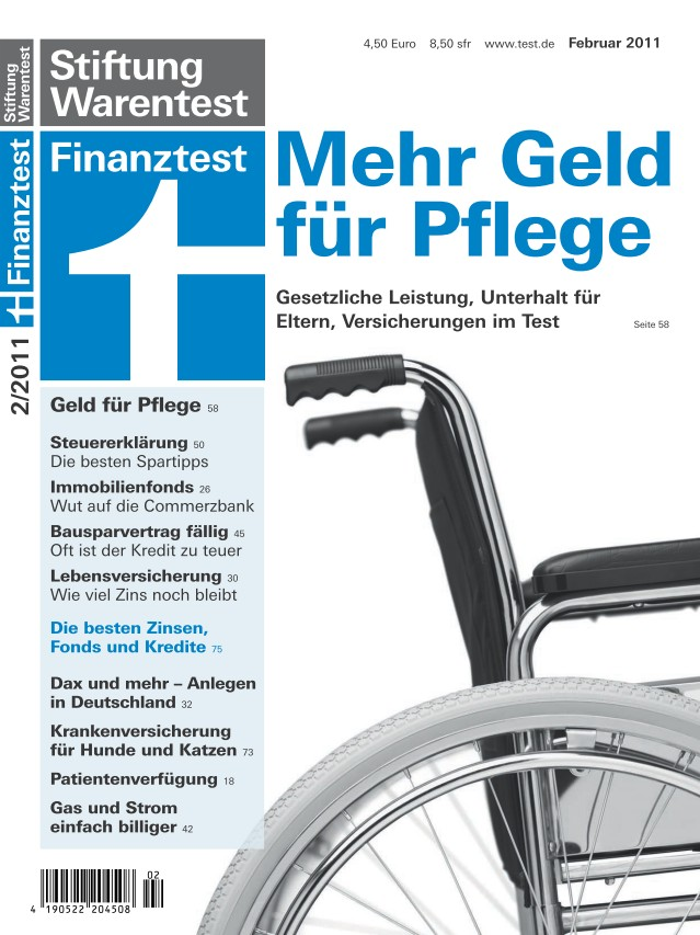 Cover Finanz­test Februar 2011