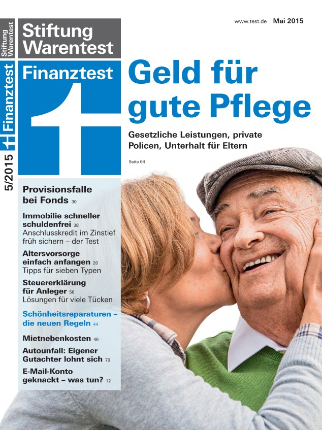 Cover Finanz­test Mai 2015